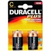 Batteri C Duracell plus 2stk.