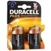 Batteri D Duracell plus 2stk.